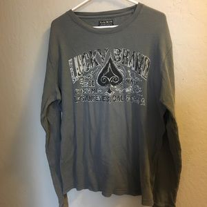 Lucky Brand Thermal Style Shirt Gray XL